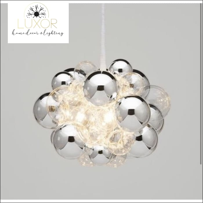 Calini Chrome Bubble Chandelier - chandeliers