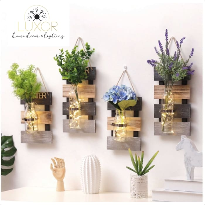 Four Seasons Hydroponic Wooden Wall Decor - wall decor