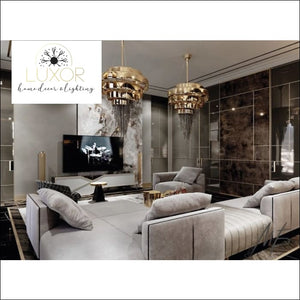 Lanai Luxury Black Crystal Pendant - chandeliers