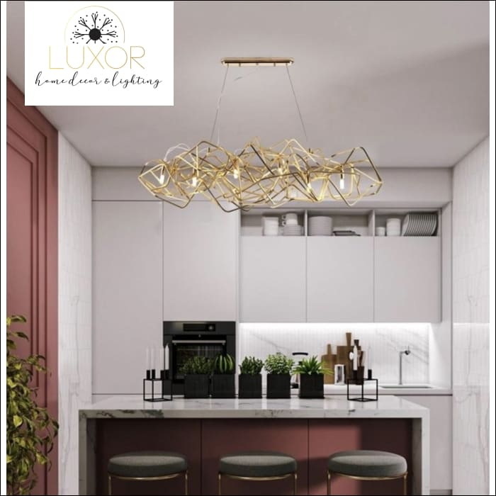 chandeliers Starlise Gold Modern Chandelier - Luxor Home Decor & Lighting