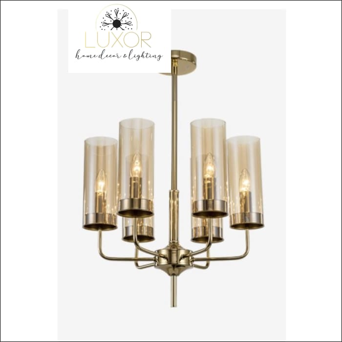 Aqualina Post Modern Chandelier - 6 Lights / Amber - Chandeliers