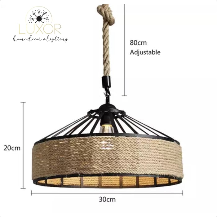 Rope Wicker Chandelier - (A) 30cm - Chandeliers
