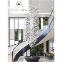 Karman Suspended Glass Chandelier - chandeliers