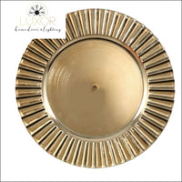 Home Accents Gold Fluted Charger Plates, 13 in. (Set of 4) - Luxor Home Decor & Lighting