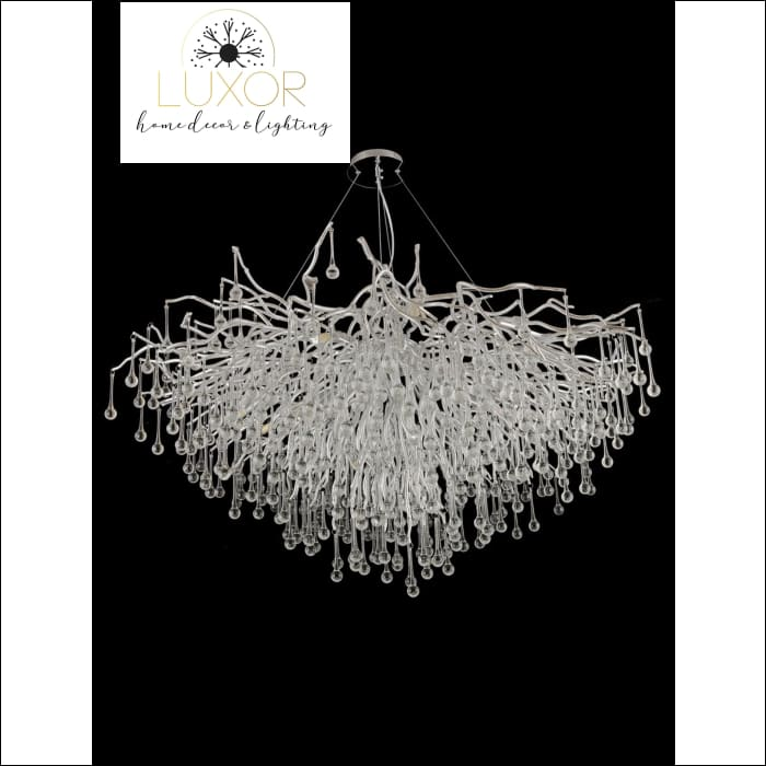 Serip Chrome Crystal Chandelier - chandeliers