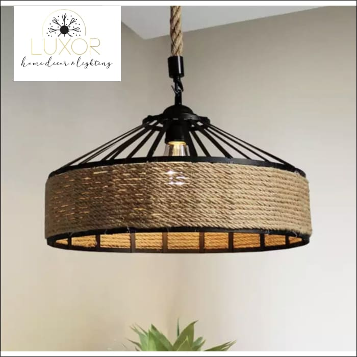 Rope Wicker Chandelier - Chandeliers