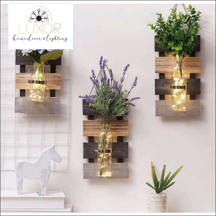 wall decor Four Seasons Hydroponic Wooden Wall Decor - Luxor Home Decor & Lighting