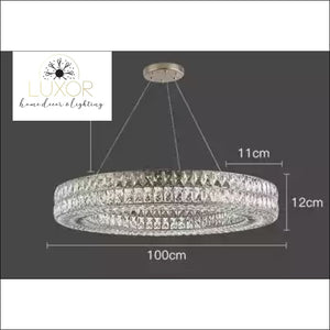 chandeliers Cardoso Crystal Chandelier - Luxor Home Decor & Lighting
