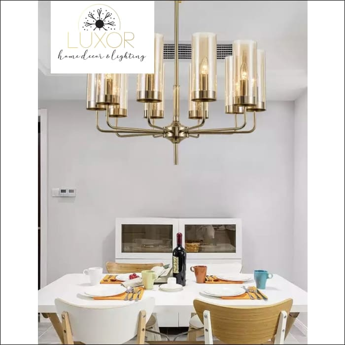 Aqualina Post Modern Chandelier - 10 Lights / Amber - Chandeliers