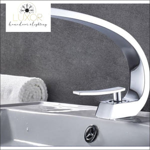 XANI Modern Bathroom Brass Faucet - White - faucets