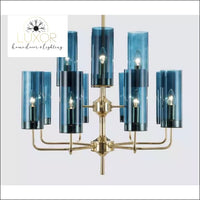 Aqualina Post Modern Chandelier - 12 Lights / Aqua Blue - Chandeliers