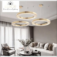 pendant lighting Crystalina Gold Luxury Pendant Lighting - Luxor Home Decor & Lighting