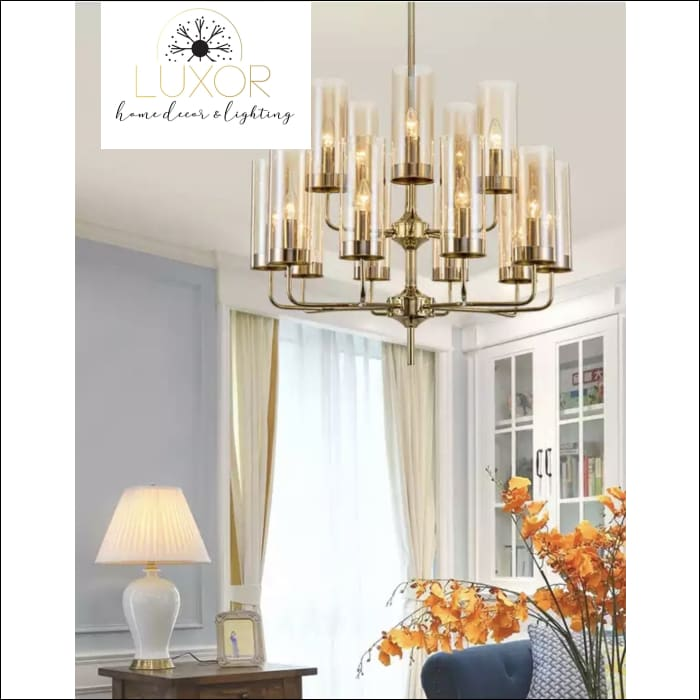 Aqualina Post Modern Chandelier - 12 Lights / Amber - Chandeliers