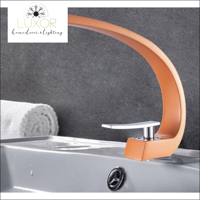 XANI Modern Bathroom Brass Faucet - Orange - faucets