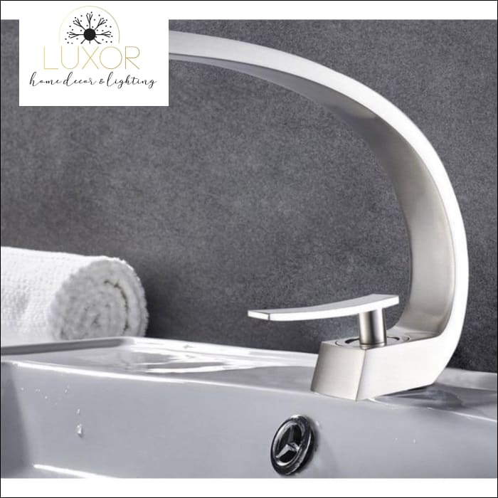 XANI Modern Bathroom Brass Faucet - Brushed Nickel - faucets