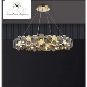 chandeliers Arlese Gold Circular Chandelier - Luxor Home Decor & Lighting