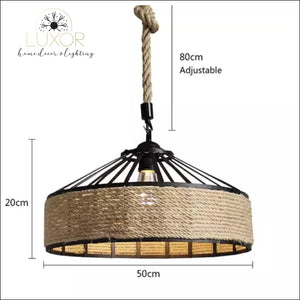 Chandeliers Rope Wicker Chandelier - Luxor Home Decor & Lighting