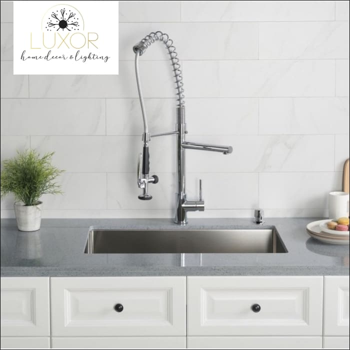 faucets Camila Pull Out Kitchen Mixer Single Handle Kitchen Faucet With Spray - Luxor Home Decor & Lighting