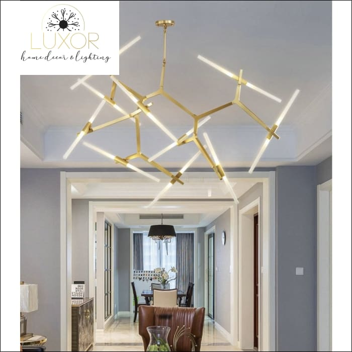 chandeliers Futuristic Modern Chandelier - Luxor Home Decor & Lighting