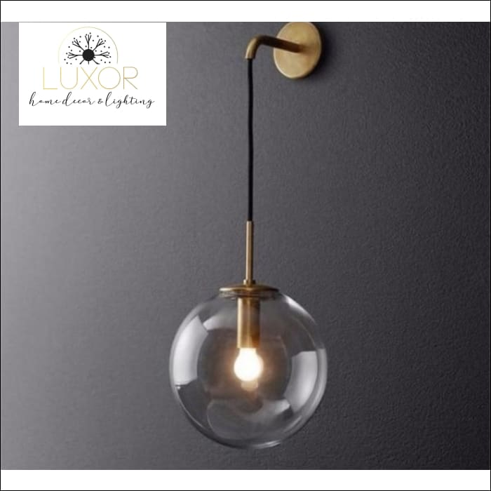 lighting Miri Nordic Modern LED Glass Globe Wall Light Sconce - Luxor Home Decor & Lighting