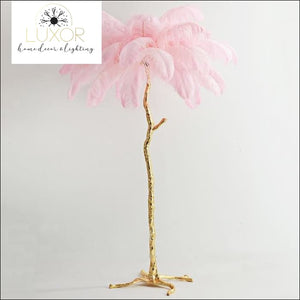 decorative objects Ostrich Feather Palm Tree Floor Lamp - Luxor Home Decor & Lighting