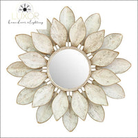 wall decor Lotus Mirror Metal Wall Decor - Luxor Home Decor & Lighting