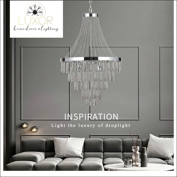 Lux Crystal Chandelier - chandeliers