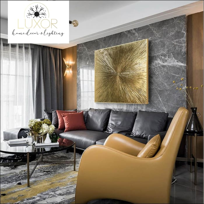 wall art Golden Eclipse Framed Oil Painting - Luxor Home Decor & Lighting