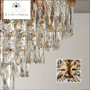 chandeliers Phube Multi -Layer Crystal Chandelier - Luxor Home Decor & Lighting