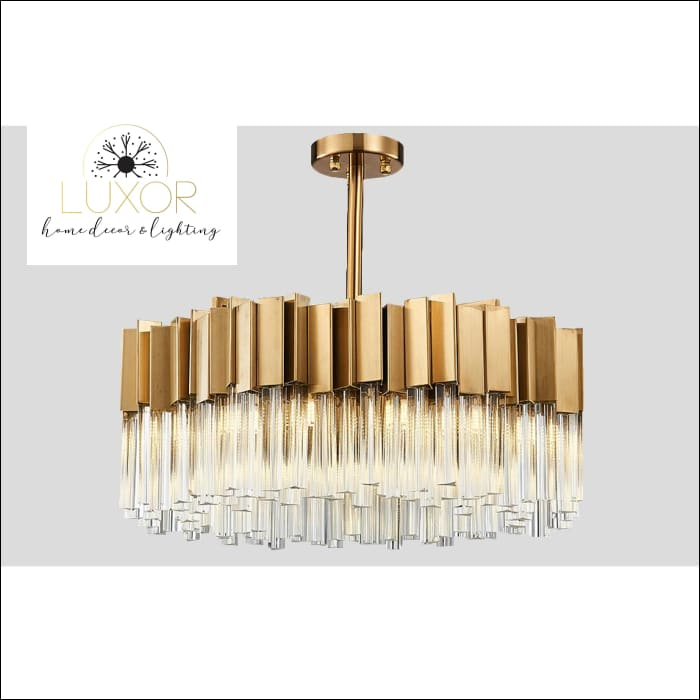 chandeliers Alice Round Crystal Chandelier - Luxor Home Decor & Lighting