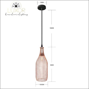 pendant lighting Trinity Rose Gold Pendant Light Collection - Luxor Home Decor & Lighting