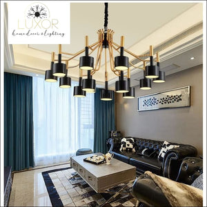chandeliers Curcio Post Modern Chandelier - Luxor Home Decor & Lighting