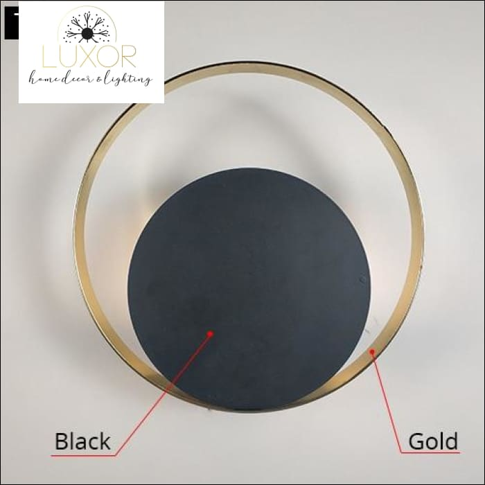 Willow Circular Sconce - Black / 5W / Warm White (2700-3500K) - wall lighting