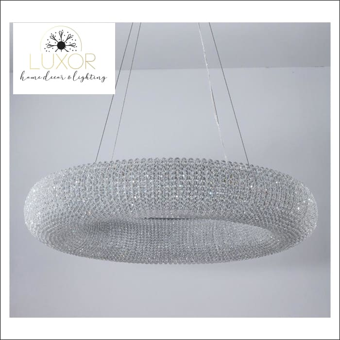 pendant lighting Kronos Crystal Ring Pendant - Luxor Home Decor & Lighting