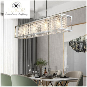 Solary Crystal Rectangular Chandelier - chandeliers