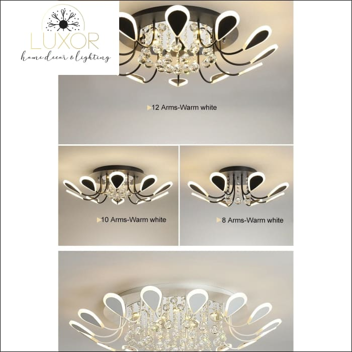 ceiling lights Glam Luxury Crystal Ceiling Light - Luxor Home Decor & Lighting