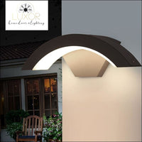 outdoor lighting Wester Circular LED Outdoor Sconce - Luxor Home Decor & Lighting