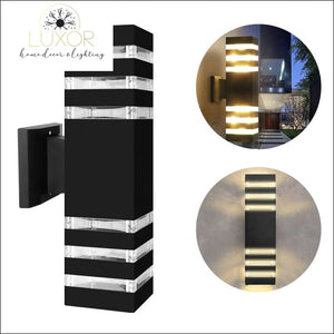 outdoor lighting Donello Dual-Head LED Outdoor Wall Sconce - Luxor Home Decor & Lighting