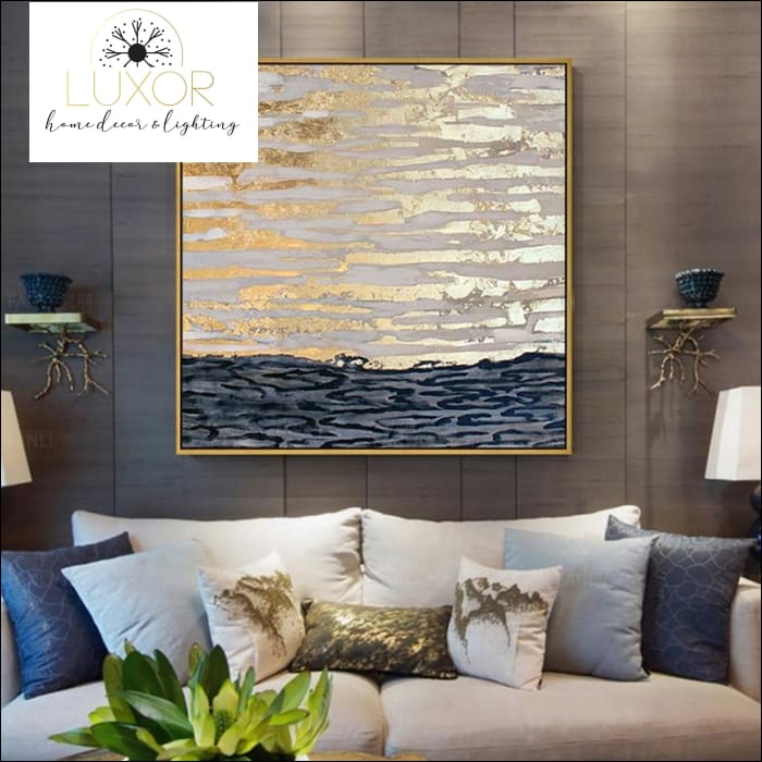 wall art Golden Sea Oil Painting - Luxor Home Decor & Lighting