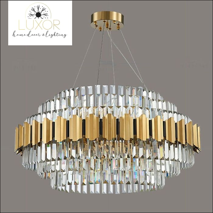 chandeliers Tasmira Crystal Chandelier - Luxor Home Decor & Lighting