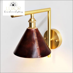 wall lighting Zerini Handmade Leather Wall Sconce - Luxor Home Decor & Lighting