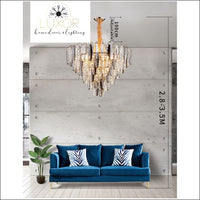 chandeliers Neptune Crystal Chandelier - Luxor Home Decor & Lighting