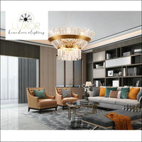 chandeliers Brilini Crystal Round Chandelier - Luxor Home Decor & Lighting