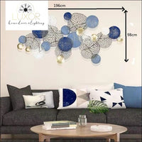 Adele Europe 3D Wall Decor - L blue - wall decor