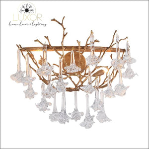 wall lighting Rose Crystal Drop Wall Sconce - Luxor Home Decor & Lighting
