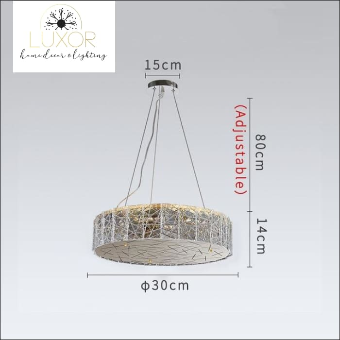 Glacier Frosted Crystal Chandelier - Dia30cm / Cool light 6000K - chandeliers