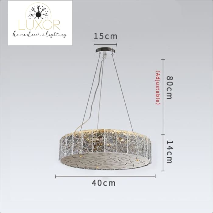 Glacier Frosted Crystal Chandelier - Dia40cm / Cool light 6000K - chandeliers