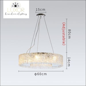 Glacier Frosted Crystal Chandelier - Dia60cm / Cool light 6000K - chandeliers