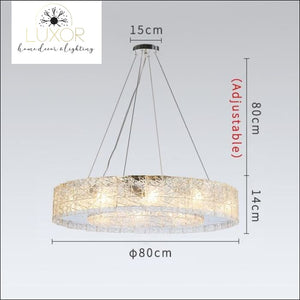 Glacier Frosted Crystal Chandelier - Dia80cm / Cool light 6000K - chandeliers