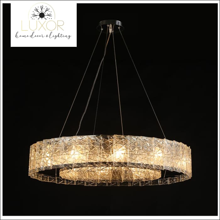 Glacier Frosted Crystal Chandelier - chandeliers